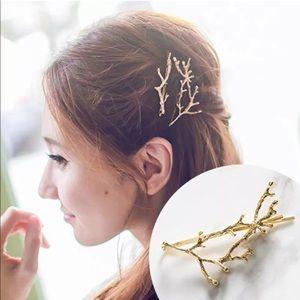 Accessories - (FINAL) Set of 2 Golden Bohemian Branch Hair Pins